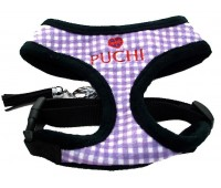 Chequered Chic Softy Harness & Lead in Purple